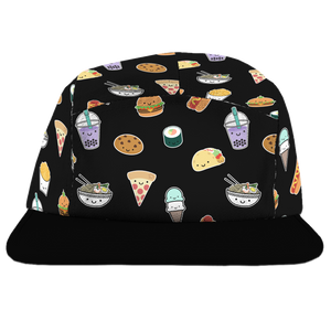 Kawaii Food Allover Print Camp Cap