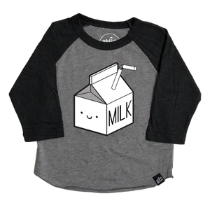 Kawaii Milk Baseball T-Shirt