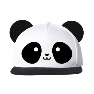 Kawaii Panda Flat Brim Cap With Ears
