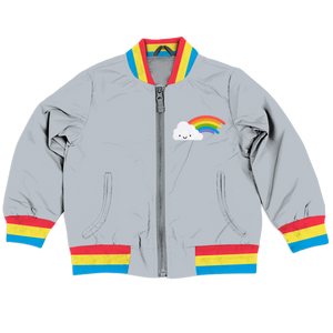 Kawaii Rainbow Bomber Jacket