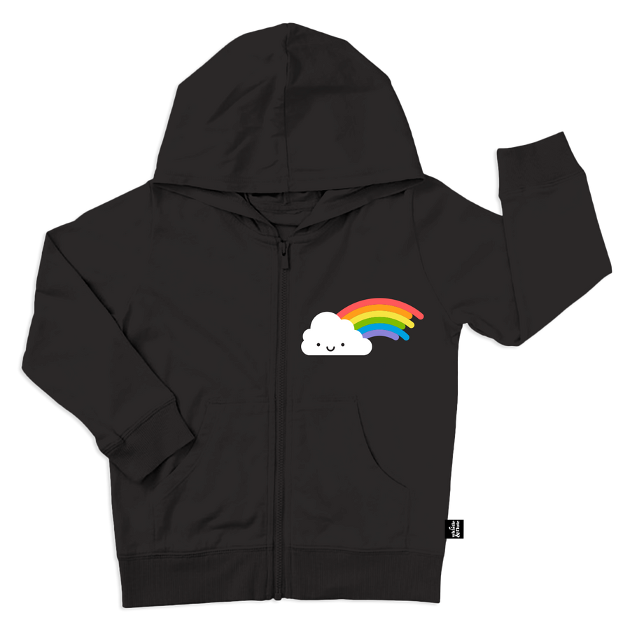 Kawaii Rainbow Hooded Sweatshirt