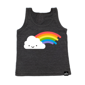 Kawaii Rainbow Tank Top Dark