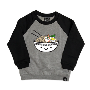 Kawaii Ramen Two-Tone Raglan Sweatshirt