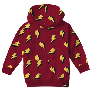 Lightning Bolt Allover Print Hooded Sweatshirt