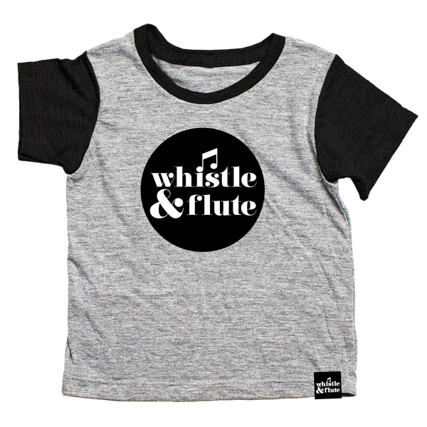 Whistle & Flute Logo Contrast Sleeve T-Shirt