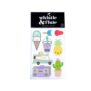 Whistle & Flute Temporary Tattoos