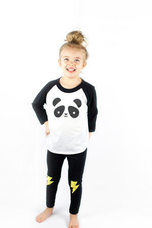 Kawaii Panda Baseball T-Shirt