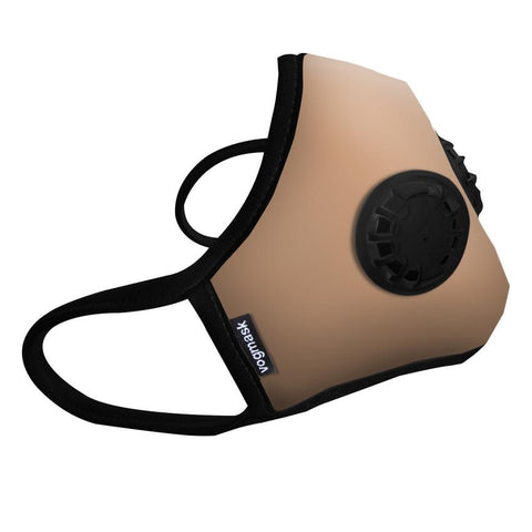 Organic Cotton Dual Valved Vogmask in Tan