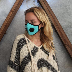 Organic Cotton Dual Valved Vogmask in Aqua
