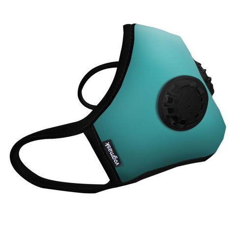 Organic Cotton VMCV Dual Valved Vogmask in Aqua
