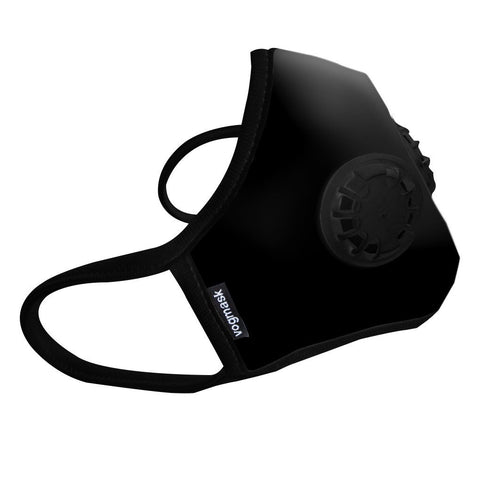 Organic Cotton VMCV Dual Valved Vogmask in Black