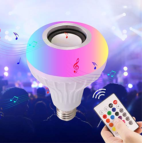 Wireless LED Music Bulb with Bluetooth Speaker RGB — Orchidred