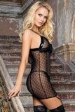 Diva Kiss Babydoll Chemise with Stockings