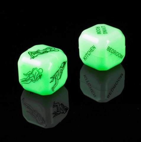 Glow in the Dark Sex Dice