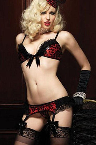 Temptress Garter set with Stockings