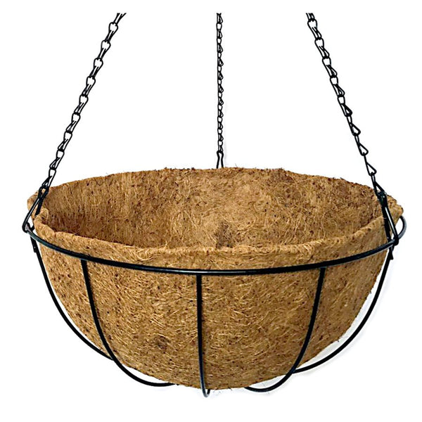 Hanging Basket Black With Coco Liner