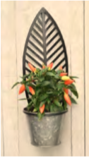 Wall Leaf Planter Single