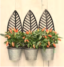 Wall Leaf Planter Triple
