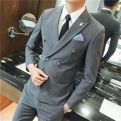 Double Breasted Suit - Ultimate Guide - Essentials Grey
