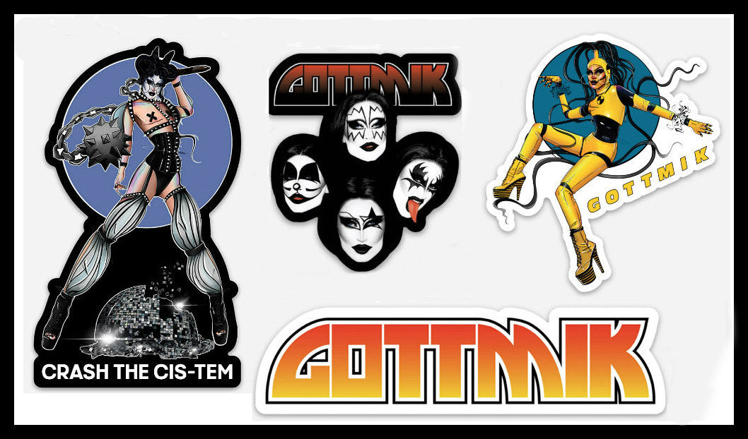 Gottmik sticker set