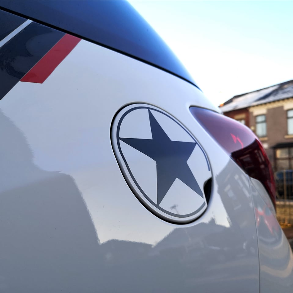 Star Fuel Cap Decal