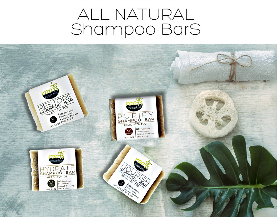 4 PACK Shampoo Bars - All Natural (4) 3.5 oz