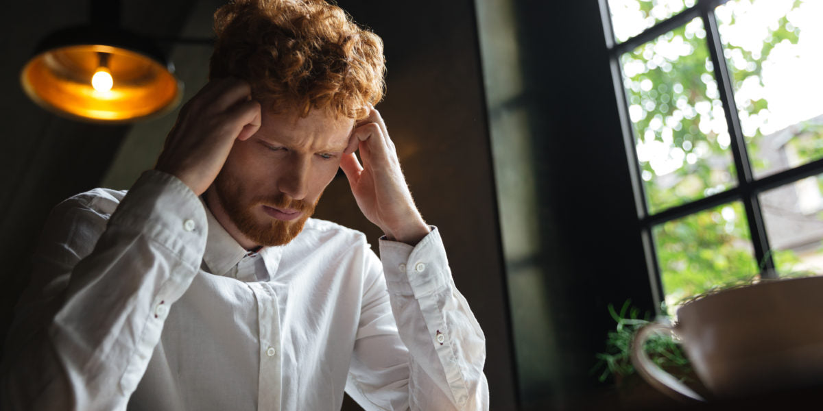 Man with Autoimmune disease feeling stressed out