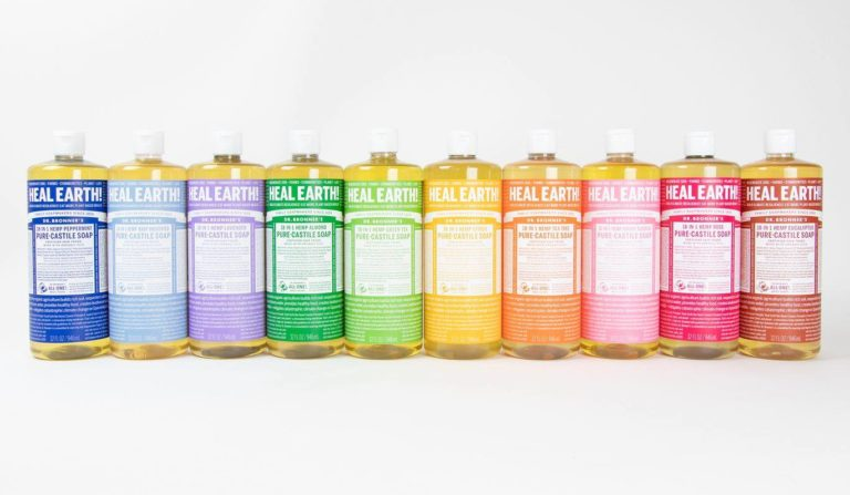 dr bronners options lined up
