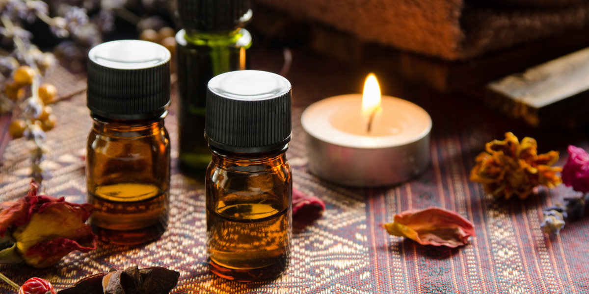 Essential Oils with Candle