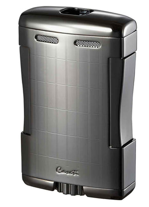 Caseti Sparta Satin Gunmetal Triple Flame Torch Lighter