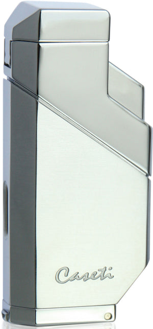 Caseti Cozmo Triple Flame Lighter - Chrome