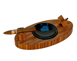 Deck Zebrawood Double Ashtray