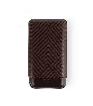 Davidoff Cigar Case XL3 Brown Leather Leaf