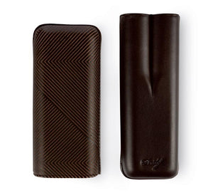 Davidoff Cigar Case XL2 Brown Leather Leaf