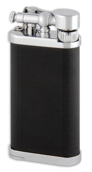 IM Corona Old Boy Black and Chrome ET Pipe Lighter