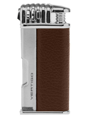 Puffer Single Flame Pipe Lighter - Brown