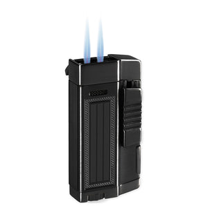 Lotus L55 Droid Black Twin Torch Lighter