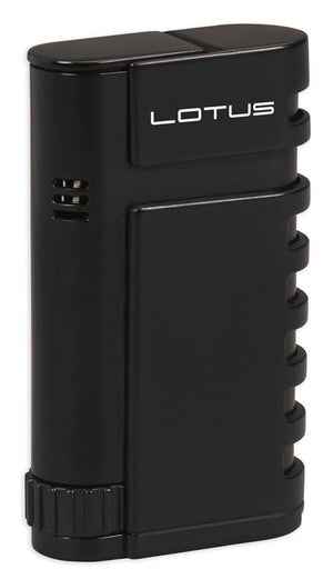 Lotus Mercury Twin Pinpoint Lighter with Punch - Black Matte