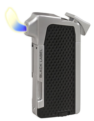 Black Label Condor Pipe Lighter - Black and Chrome