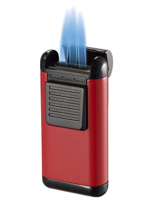 Antero Triple Torch Cigar Lighter - Red