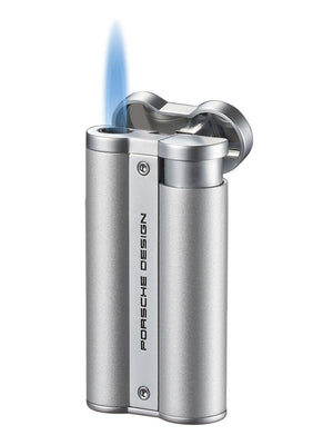 Porsche Design Selter Flower Torch Flame Lighter - Silver