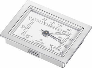 Visol Square Analog Hygrometer for Cigar Humidors