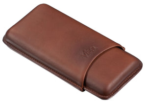 Legend Burgundy Genuine Leather Case - Holds 3 Cigars