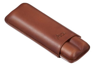 Legend Brown Genuine Leather Case - Holds 2 Cigars