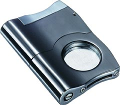 Caracas Gunmetal Finish Stainless Steel Cigar Cutter