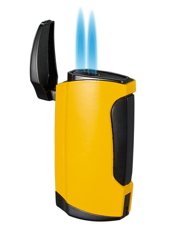 Wilson Double Torch Cigar Lighter - Yellow