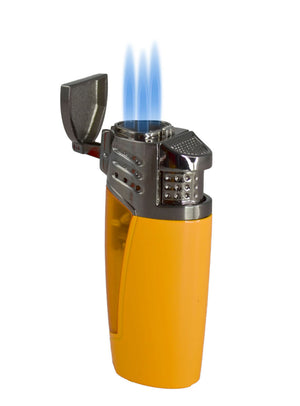 Visol Pyramid Triple Flame Cigar Lighter - Yellow