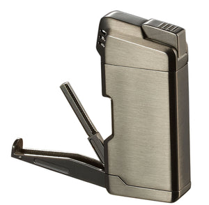 Visol Epirus Soft Flame Pipe Lighter - Gunmetal