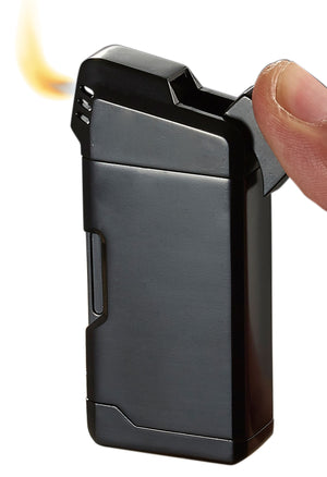 Visol Epirus Soft Flame Pipe Lighter - Black