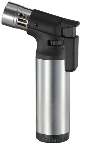 Ares Quad Torch Cigar Lighter - Silver